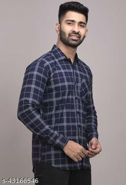 Ravishing Trendy casual Checkered Mens Shirts