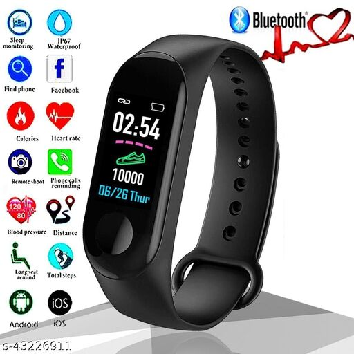 M3 Smart Watch Band Fitness Tracker with Activity Tracker  Like Steps Counter.