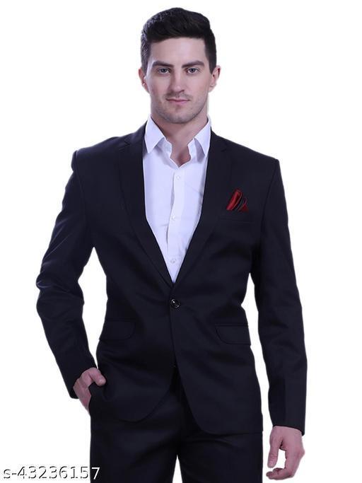 Touch Fitt Single Button Regular Fit Formal Blazer for Men Black Available in 6 (BLAZER ONLY)