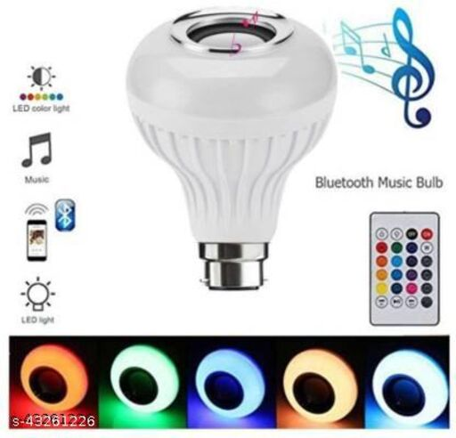 Stout| Bulb in multi color lighting with bluetooth speaker (1piece)