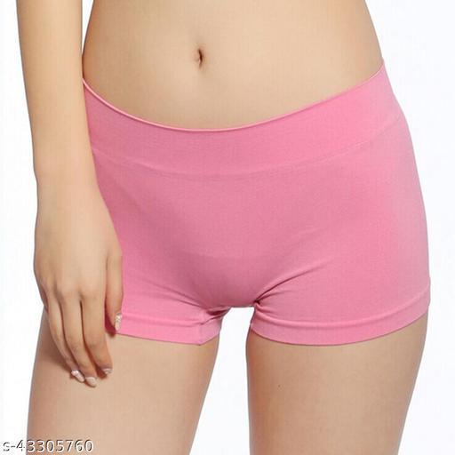 Women Bikini Pink Cotton Blend Panty
