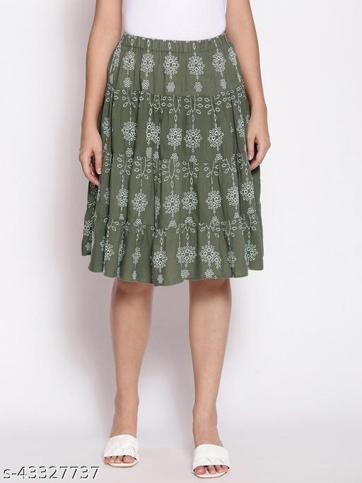 Hazzy Daisy binge Schifly Emb skirt for women