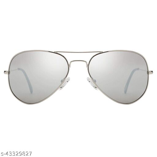 JUST-STYLE Aviator and Round Men's and Women's Sunglasses Combo (Brown, Silver) - Pack of 2