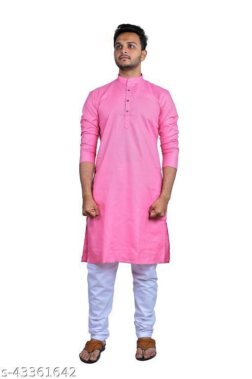 Shree Ganesh Men's Kurta(Pink )