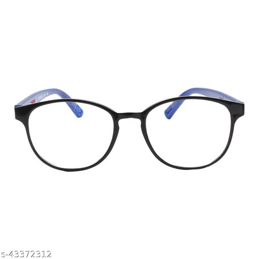 Criba_Round Style_Clear_Blue Rim_Unisex Sunglasses