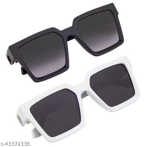 Criba_Jass Manak_Black & White Combo_Unisex Sunglasses