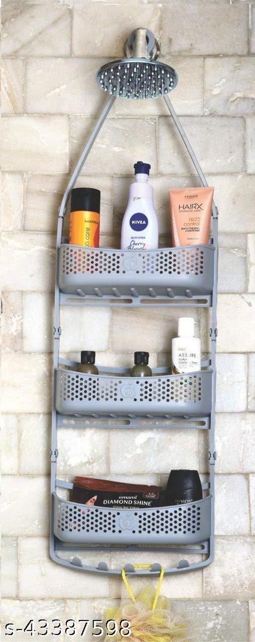 Shower Caddy For Bathroom Hanging, 3 Layer Grey, Shower Organizer, Over Head Shower Caddy Basket, Bathroom Organisers Storage Racks