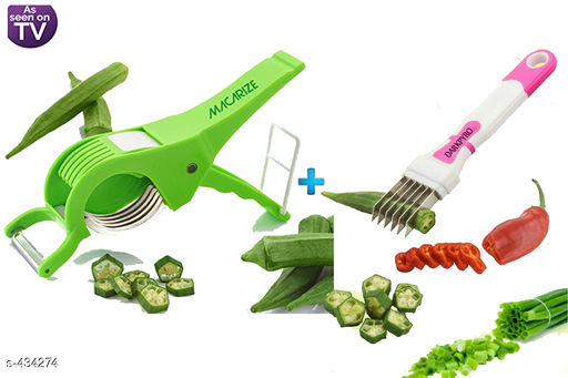 2 In 1 Vegetable Cutter With Peeler & Multi Blade Knife