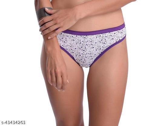 Women Hipster Purple Cotton Panty