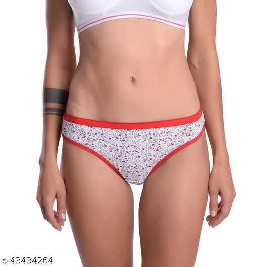 Women Hipster Red Cotton Panty