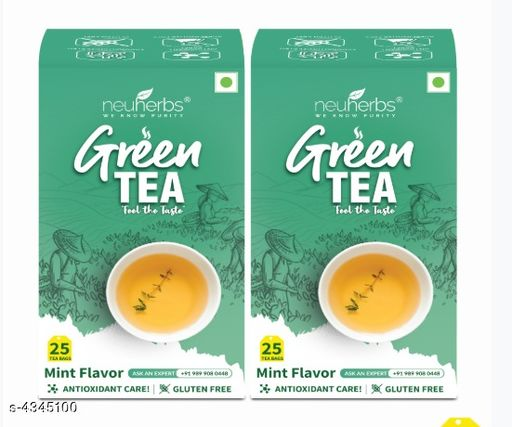 Ayurveda & Herbs Neuherbs Pure & Natural Green Tea for Weight Management-Mint(50 Tea Bags)   *Product Name* Neuherbs Pure & Natural Green Tea for Weight Management-Mint  *Brand Name* Neuherbs  *Product Type* Green Tea Leafs  *Product Description* Our body has a natural detoxification system which is designed to support our health, by eliminating the unwanted waste products from our metabolism & from environmental toxins. Like every hardworking system, our body also needs periodic rest and support to continue functioning optimally. With the care of antioxidants, Neuherbs brought to you green tea which is a rich source of antioxidant that helps in restoring the body's natural detoxification abilities. We curate just what your body seeks – Health, Fitness, Energy, Detoxification, Relaxation, Glow and Weight Care. Our entire portfolio is crafted on the 4 pillars - Innovation, Purity, Safety & Results.  JUST PLAY IT COOL! We brought to you green tea with a fresh & natural mint flavor that adds an authentic taste to your tea. The clear and fresh mint flavor develops a cool edge! And the best part is? It's balanced with calming green tea.  *Package Contains* It has Pack Of  1 With 50 Tea Bags  *Sizes Available* Free Size *   Catalog Rating: ★3.9 (7)  Catalog Name: Neuherbs Green Tea weight management vol 3  CatalogID_623426 C126-SC1312 Code: 023-4345100-
