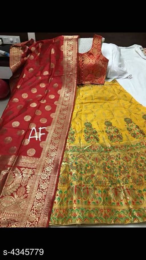 New Attractive Banarasi Silk Jacqard Women's Lehenga