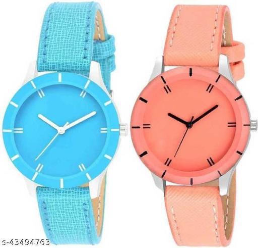 SOO New Stylish -G-605-Full SKY Blue- For Girls &Women Watch - For Girls Analog Watch