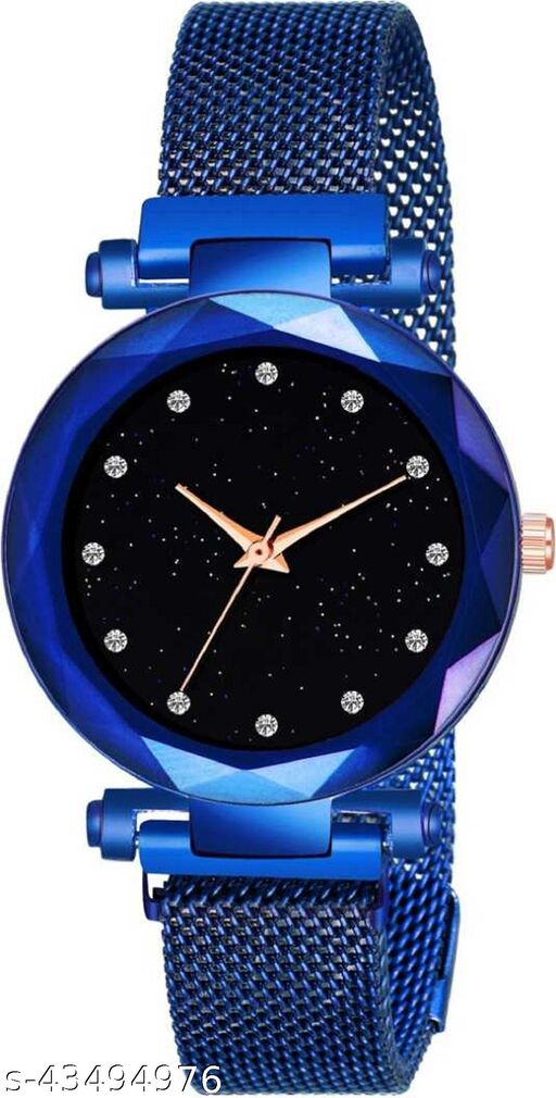 SOO Blue Megnet Strap Buckle Analoge Watch For Girls & Woman Girls Watches Analog Watch