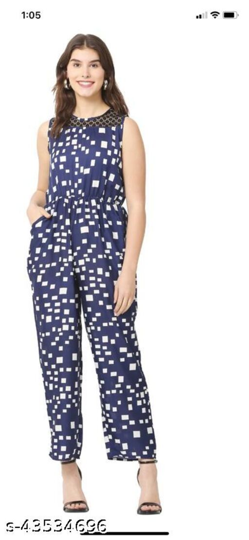Polka Print jumpsuit, trendy and stylish