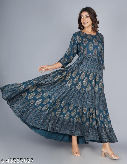 Awesome Stylish Printed Gowns