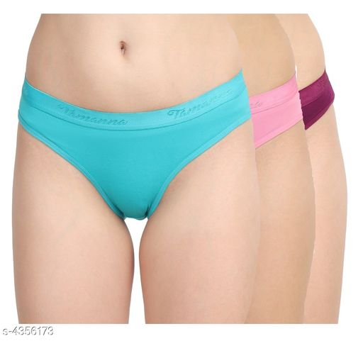 Women Multicolor Cotton Panty (Pack of 3)