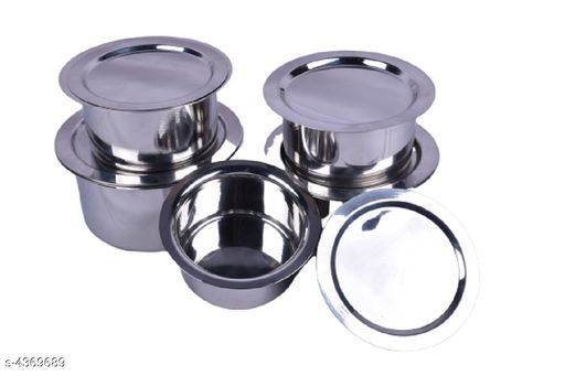 Kitchen Pot with Lid Set(Patila/Bhagona/Tope Set 5pcs)