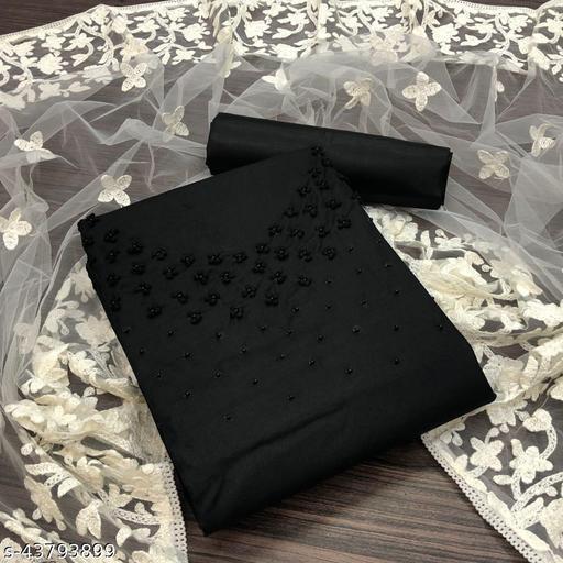 Slub Cotton with Hand Work Dress Material