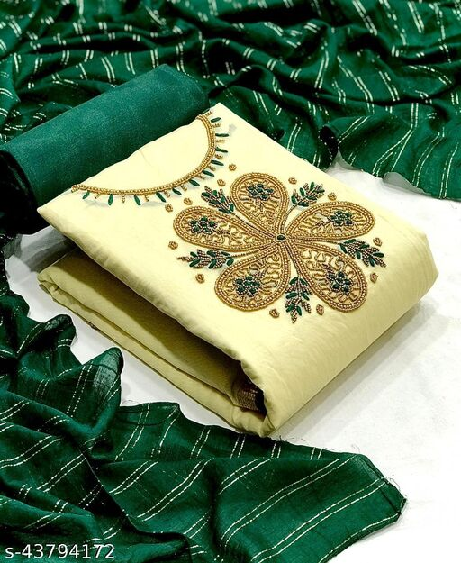 Modal with Hand Work Dress Material