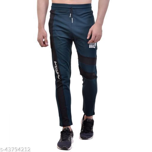 Neon 9 Men's Printed 4 way Lycra Track Pant