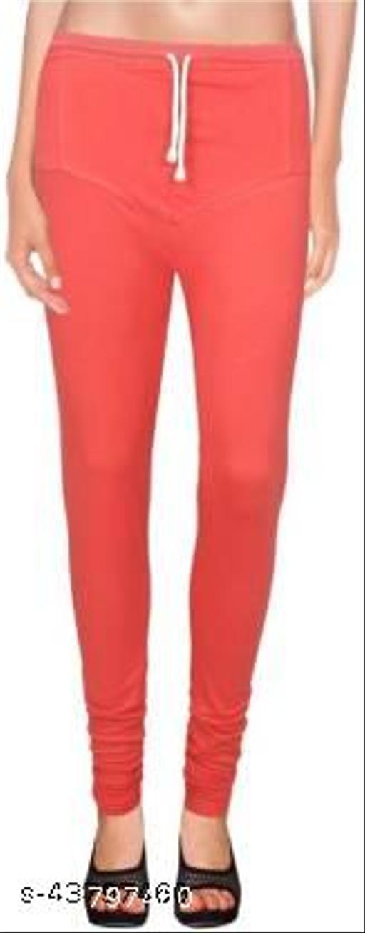 Ruby KriSo Cotton Free Size Churidar legging Red Colour