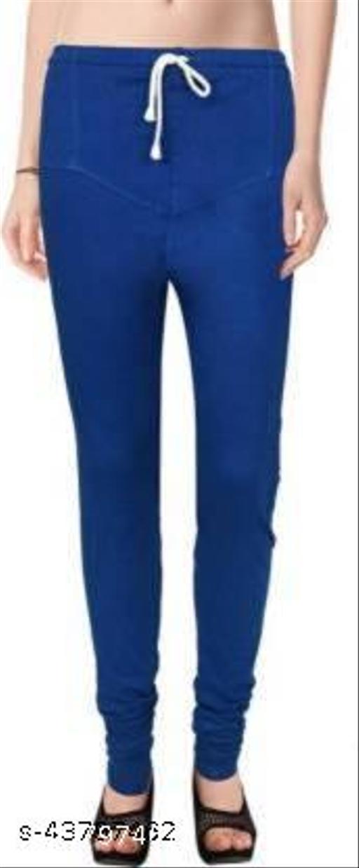 Ruby KriSo Cotton Free Size Churidar legging Blue Colour