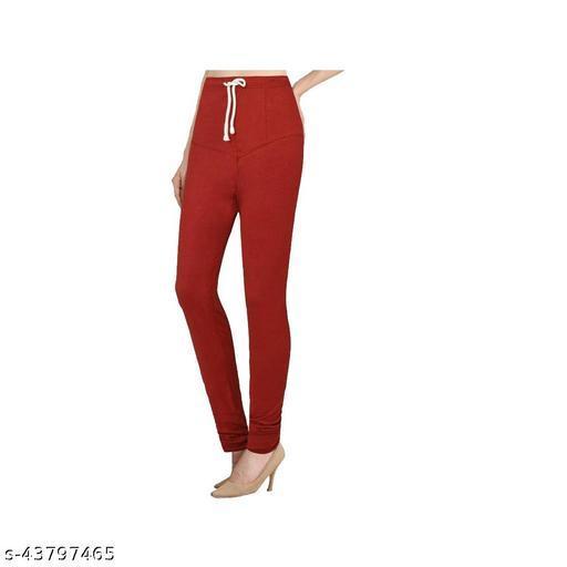 Ruby KriSo Cotton Free Size Churidar legging Maroon Colour