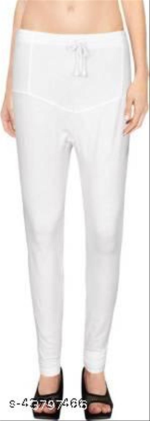 Ruby KriSo Cotton Free Size Churidar legging white Colour
