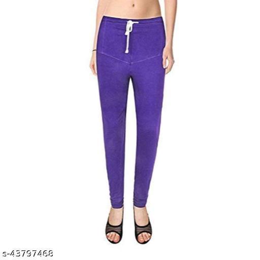 Ruby KriSo Cotton Free Size Churidar legging Purple Colour