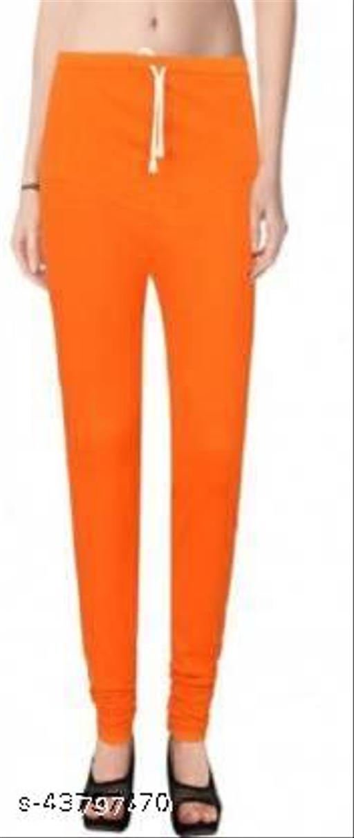 Ruby KriSo Cotton Free Size Churidar legging Orange Colour
