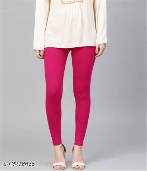 Women stylish Gorgeous Ankle Length Rani Pink Legging