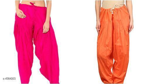 Stylish Solid Cotton Women's Patiala Salwar