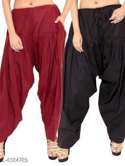 Stylish Solid Cotton Women's Patiala Salwars