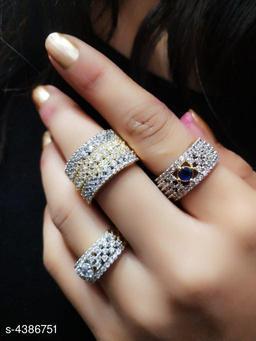 Stylish American Diamond  Ring