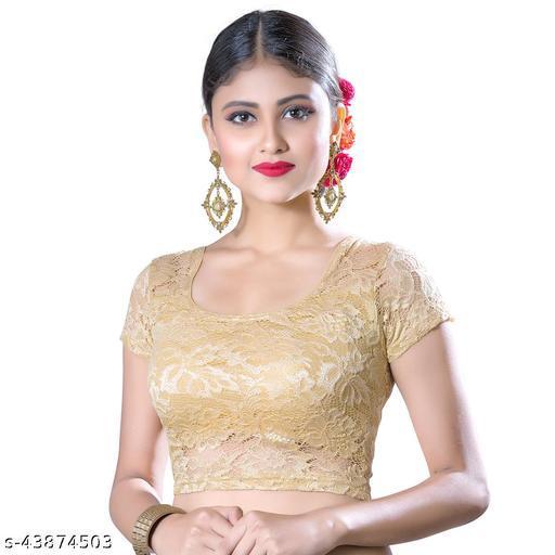 Abhi Women's Designer Net  Blouse