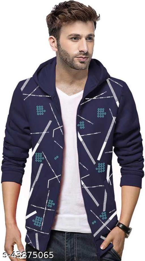 Full Sleeve Printed Men Casual Jacket