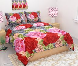 Attractive Polycotton Double Bedsheet