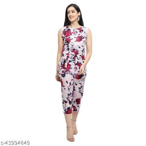 Women's Pink Floral Jumpsuit