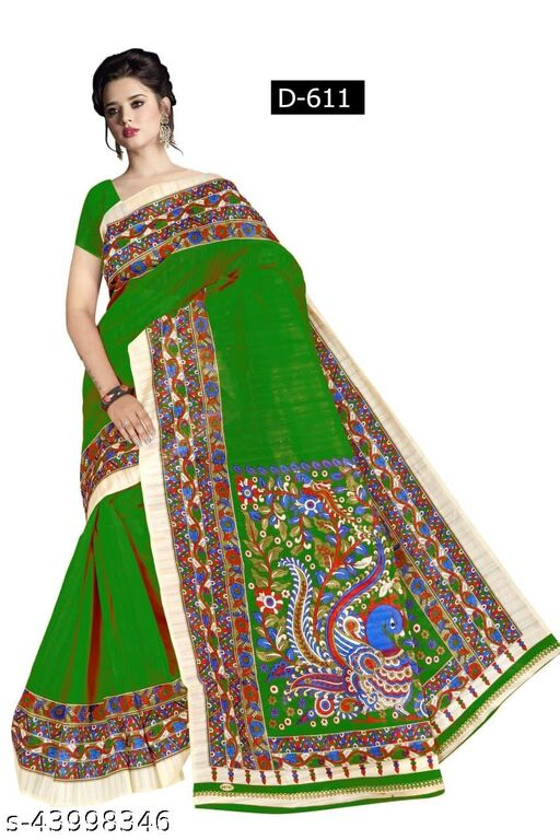 WOMEN'S FANCY AND DESIGNER SAREE WITH UNSTICHE BLOUSE