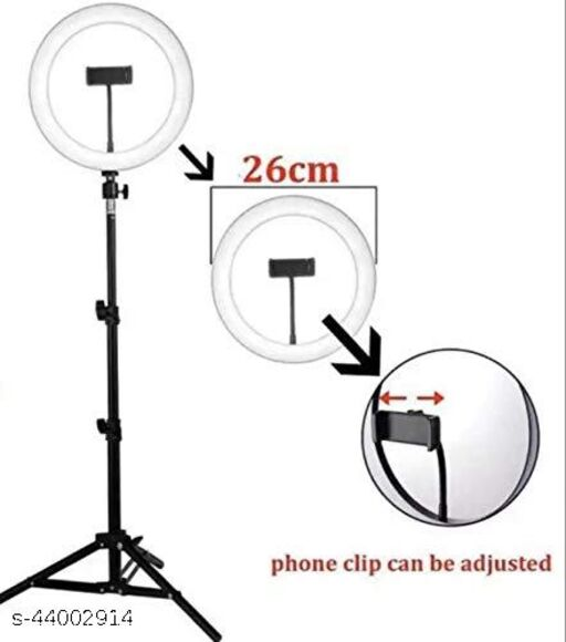 10 inches Big led Ring Right for Photo and Video with 7 feet Tripod Stand Compatible with Camera and Smartphones