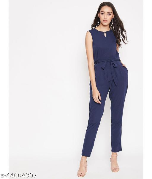 Women's Solid Plain Maxi Jumpsuit
