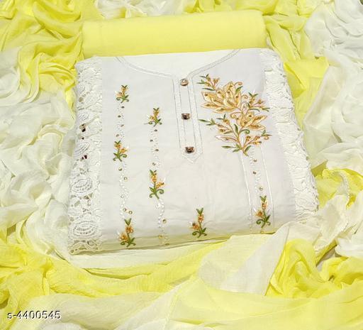 Designer Unstitched Dress Material With Dupatta