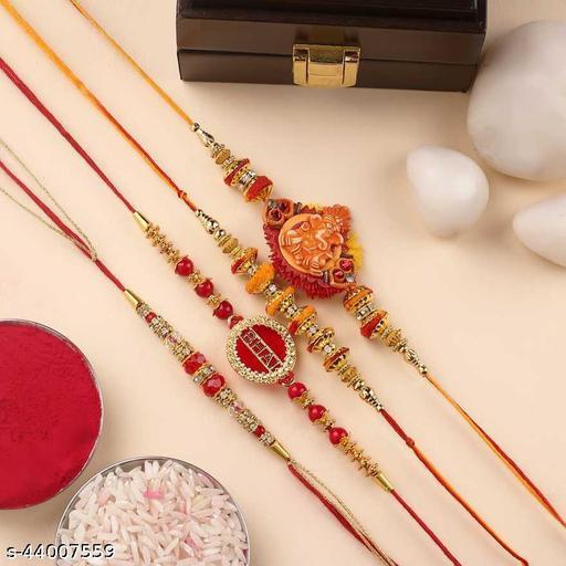 Rakhi combo Pack  gift for Brother | Designer Rakhi combo set