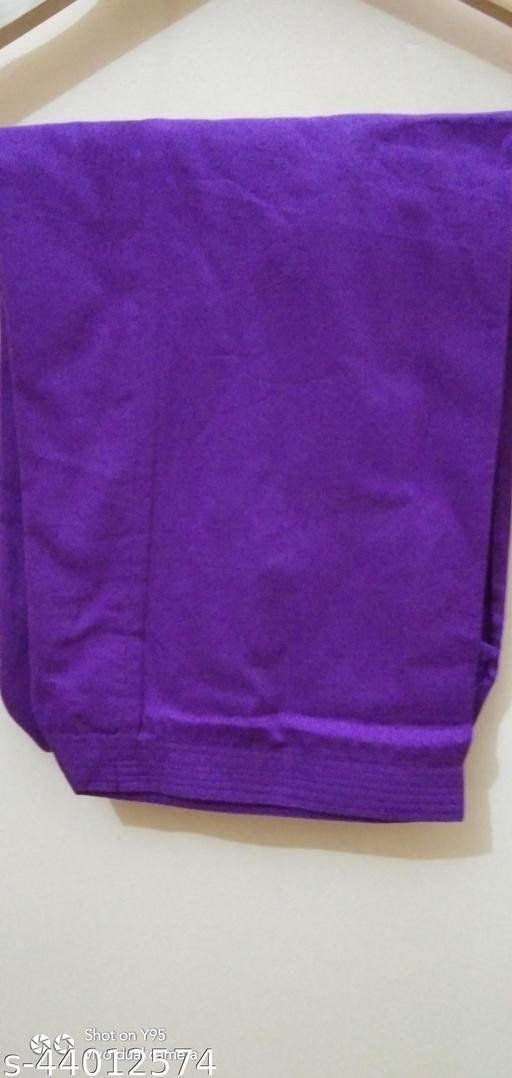 Nationfirst Women's Pure Cotton Full Purple Single Salwar