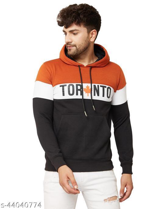 Kartoon Klub Winter Wear Casual Fleece Hood Sweatshirts For Men's