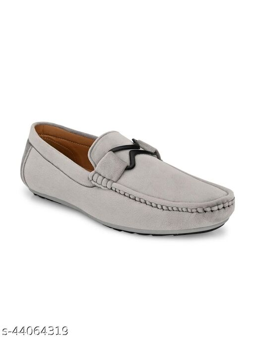 Guava Charming Velvet Casual Loafer Shoes - Grey