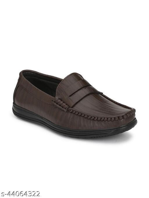Guava Men Stylish Loafer Shoes - Brown