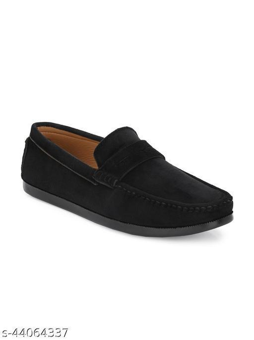 Guava Charming Velvet Casual Loafer Shoes - Black