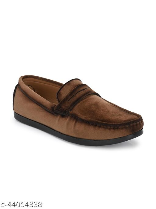 Guava Charming Velvet Casual Loafer Shoes - Brown